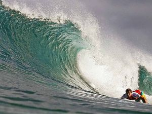 Wilson's surfing for injured mate