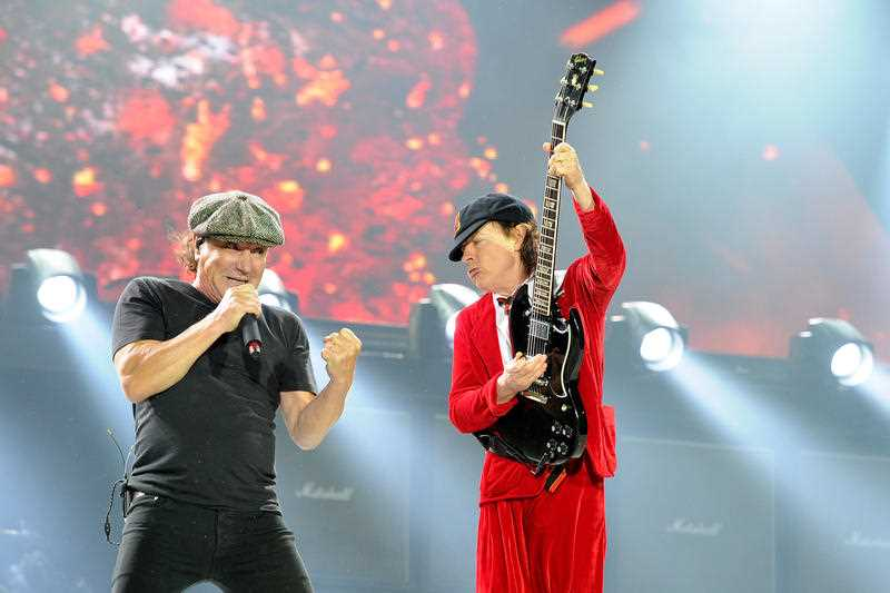 Australian hard rock band AC/DC performing at ANZ Stadium in Sydney, Wednesday, Nov. 4, 2015. The veteran rockers are back in Australia as part of their Rock Or Bust World Tour.