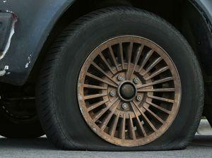 Mazda found with slashed tyres, smashed windscreen