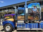 R&K; Haulage's Slim Dusty Truck Photo PJs Custom Spray Painting.