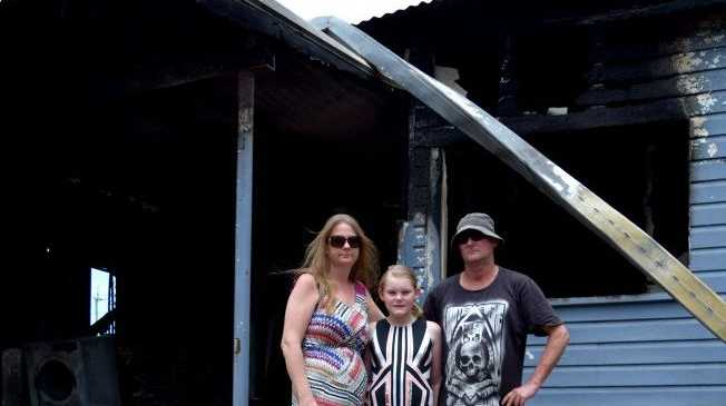 Walkerston house fire: Family Amanda, Aprile, 11, and Steve Benson lose everything.