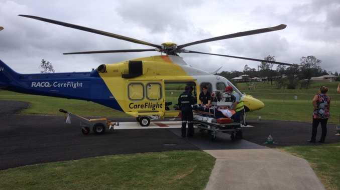The man in his mid-60s was taken to Brisbane for treatment. Photo Contributed