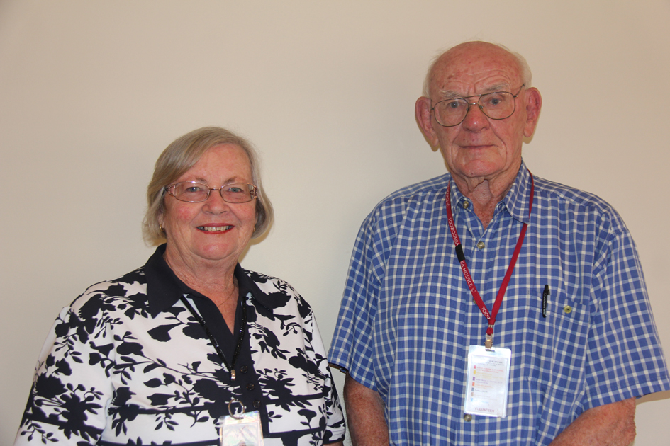 June Burke and Phonse Carmody, two valuable volunteers at the Toowoomba Hospice