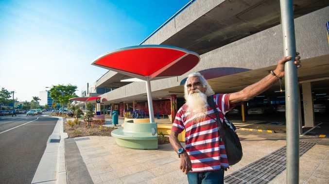 Coffs Harbour resident Daniel Boney appreciates the new public transport interchange in Park Ave.