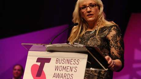 Queensland Fire and Emergency Services Commissioner Katarina Carroll winning the Queensland government and academia category in the 2015 Telstra Business Women's Awards in October in Brisbane.