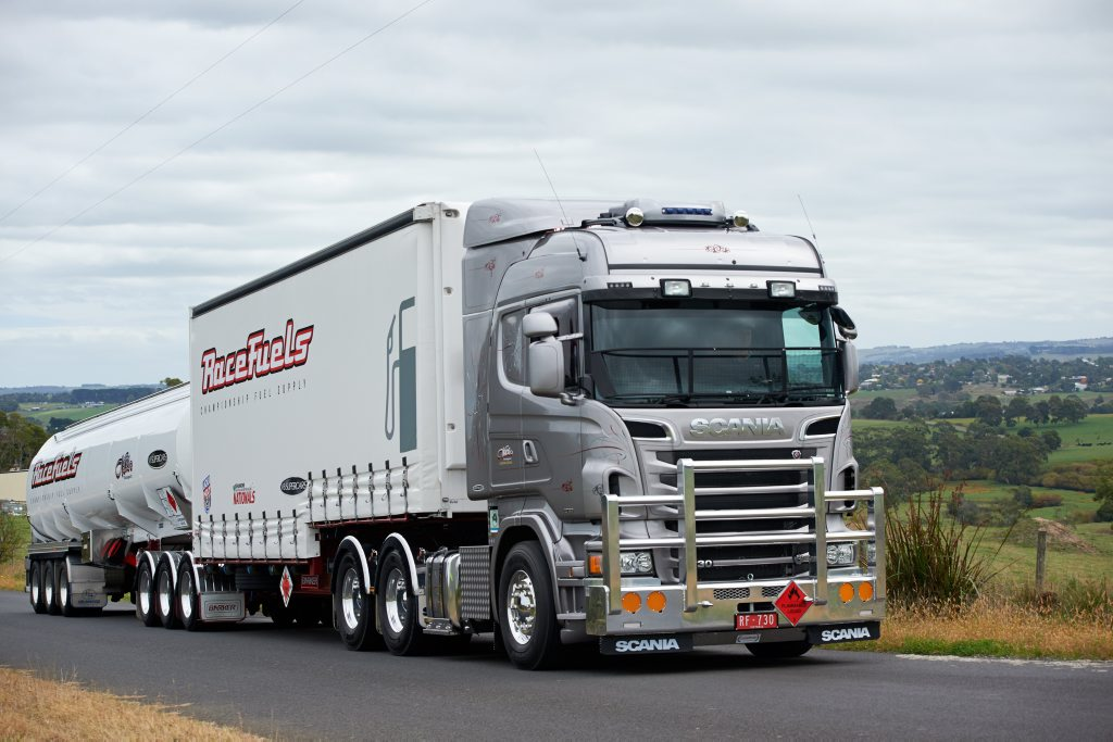 Nesci Transport's V8 Scania. Photo Contributed