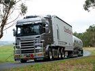 Nesci Transport's V8 Scania. Photo Contributed