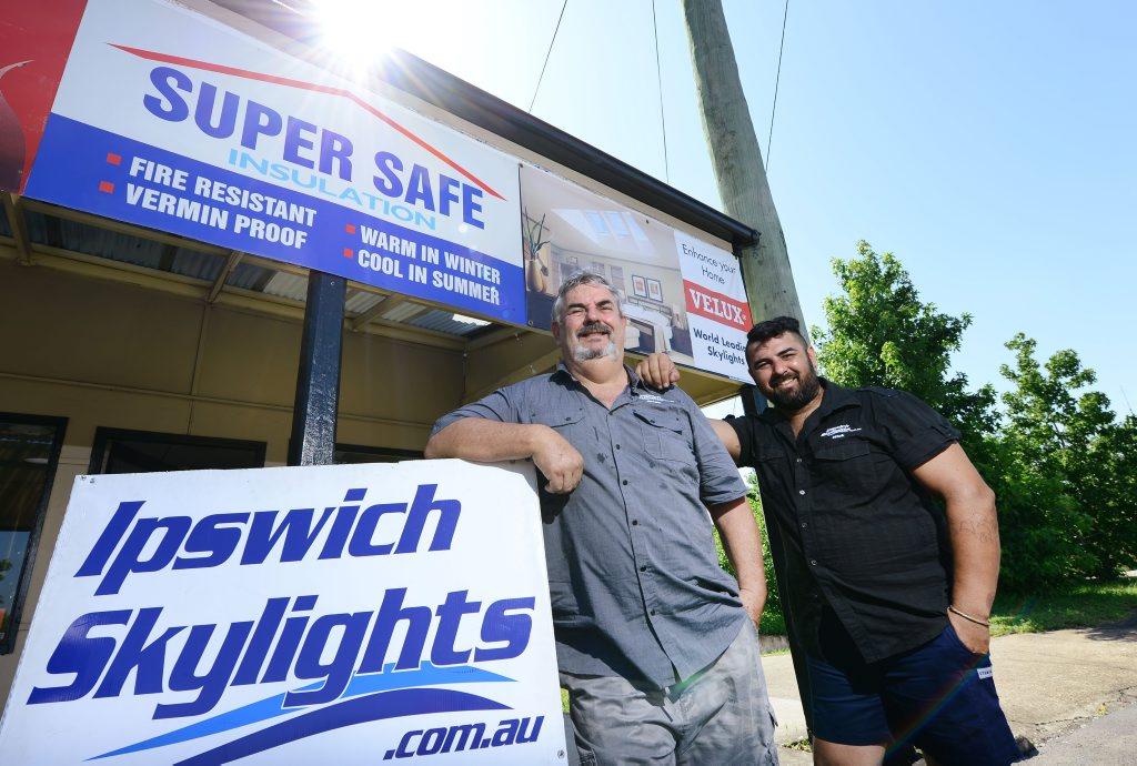 Brian Scott and Nick Scott of Ipswich Skylights.