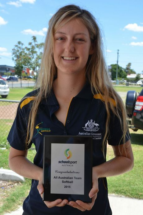 Rachel Kraak has been chosen to represent the All Australian softball team after claiming silver with the Queensland team at the Pacific School Games. Contributed