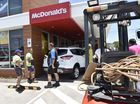 Hutchinson crews rescue trapped teen at McDonald's