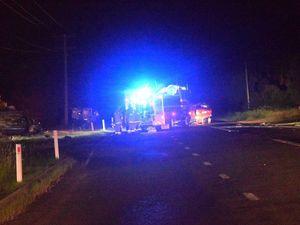 Fire crews attend fatal crash
