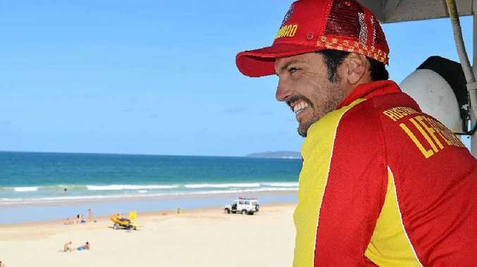 ON WATCH: Recent lifeguard import to the Rainbow Beach Surf Lifesaving Club, Liam Toohey.