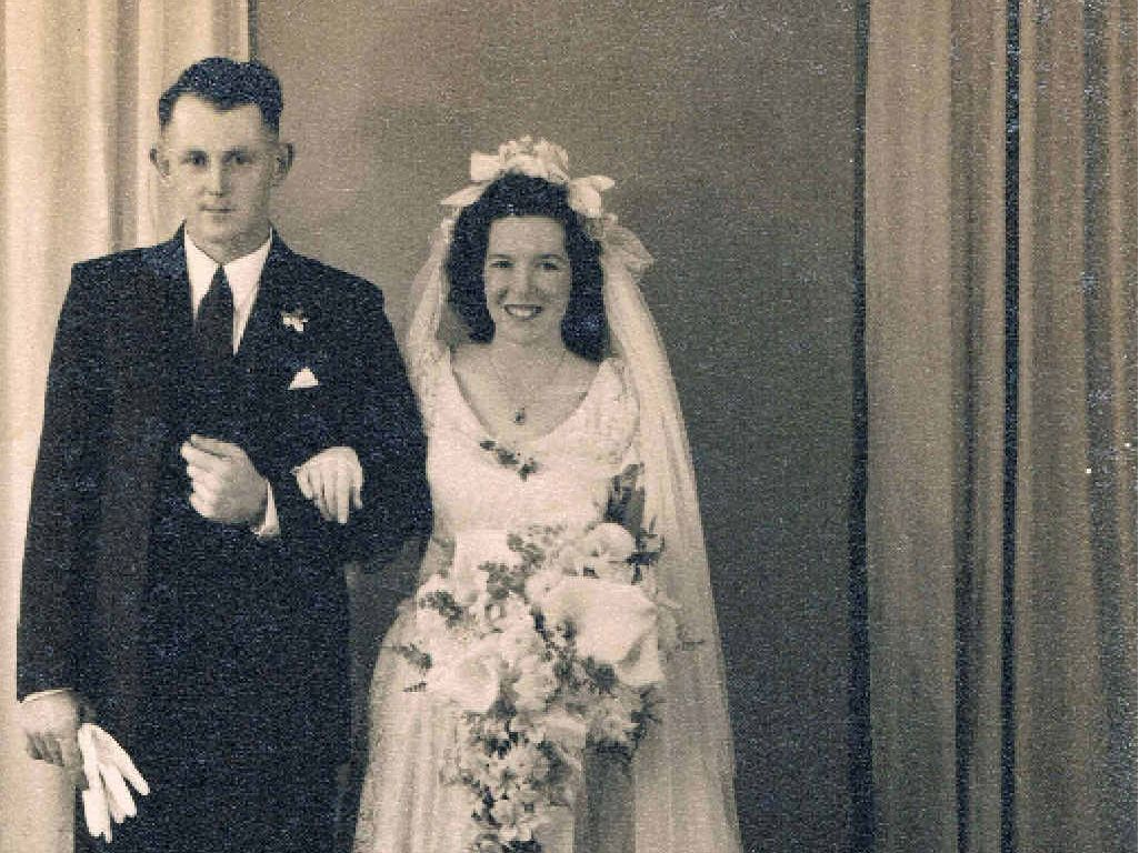 THEN: Peter and Heather Rothery were married on November 11, 1950.