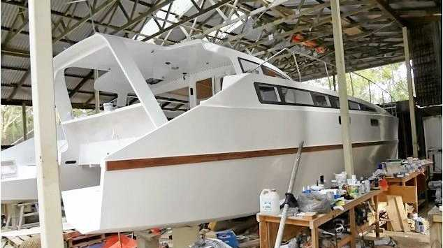 IN PROGRESS: A snapshot of Pillar Valley resident Chris Firth's boat build, taken from his blog SeeBeeZee.