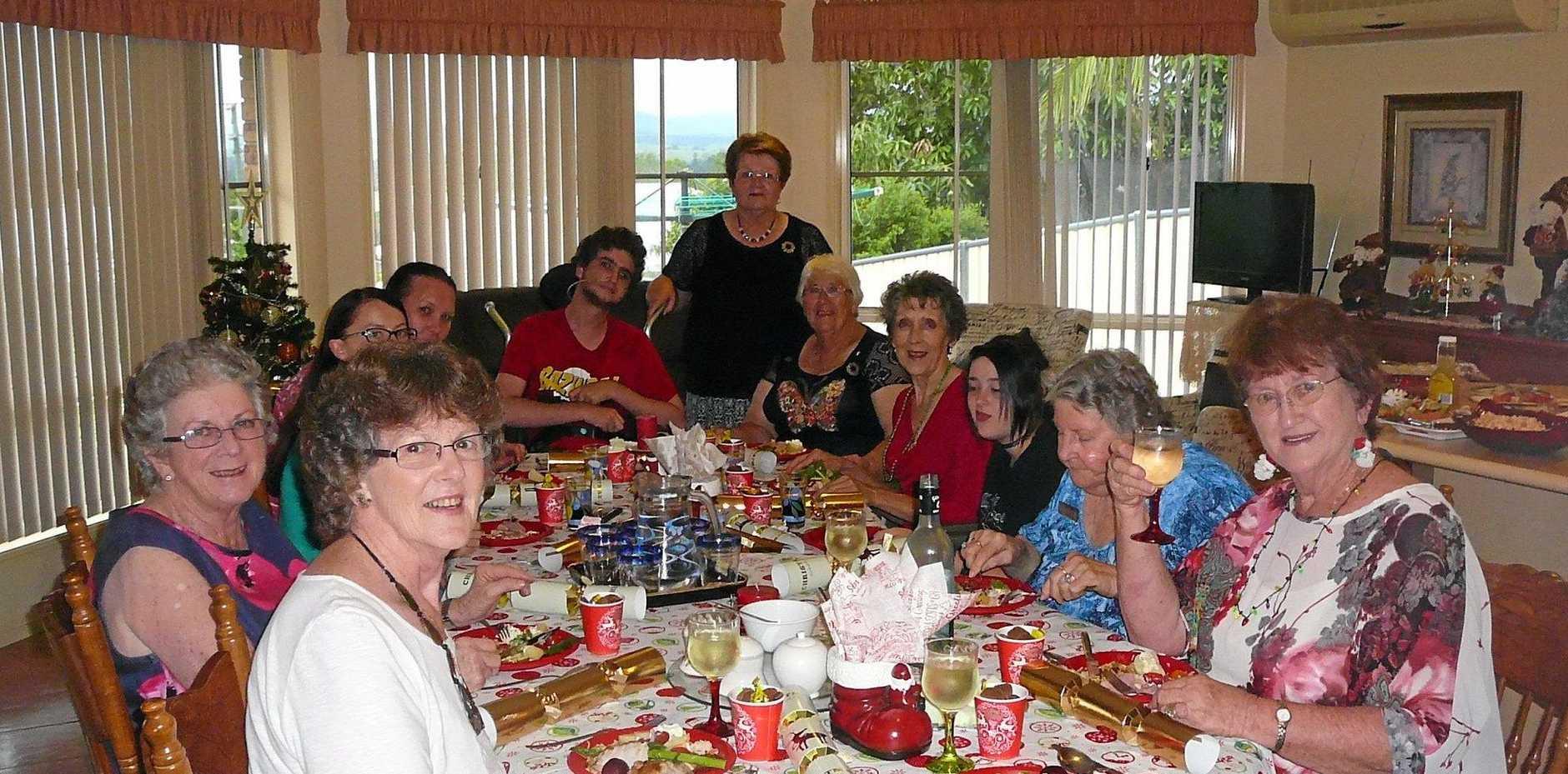 FESTIVE TIME: Kyogle Quotarians and friends enjoy Christmas dinner with Rhonda Watt.