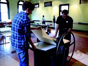 Develop your printmaking skills at pop-up studio workshop
