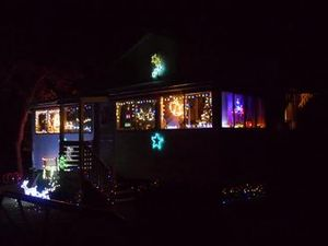 Christmas lights shine in Blackbutt