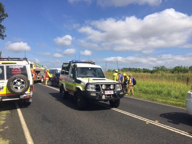 The scene of the crash in Helidon. Photo Tara Miko / The Chronicle