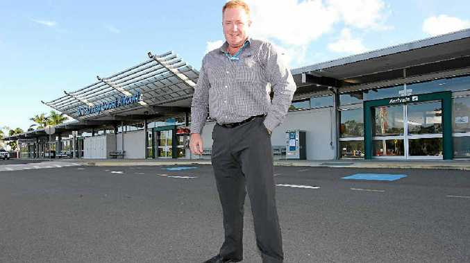 READY TO GROW: Whitsunday Coast Airport operations manager Tony Schulz can expect busy times ahead.