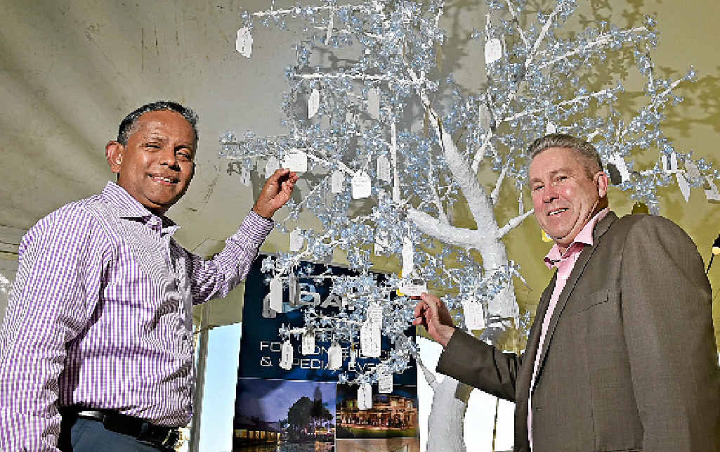 TREE'S COMPANY: Minor Hotel Group CEO Dillip Rajakarier and Oaks Hotels and Resorts operations officer Mike Anderson launch the Wishing Tree fund-raiser.