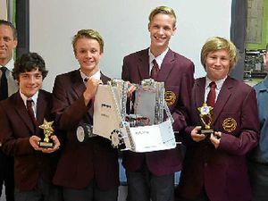 School robotics team plans world domination at comp