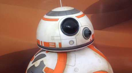 A replica of the character BB8 from the movie Star Wars: The Force Awakens pictured at the film's Sydney premiere.