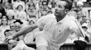 Rod Laver in Wimbledon, 1962. (AP Photo)