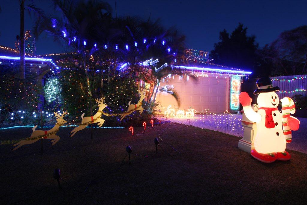 Christmas lights on the Coast 2009. 8 Rainsford Place, Buderim.
