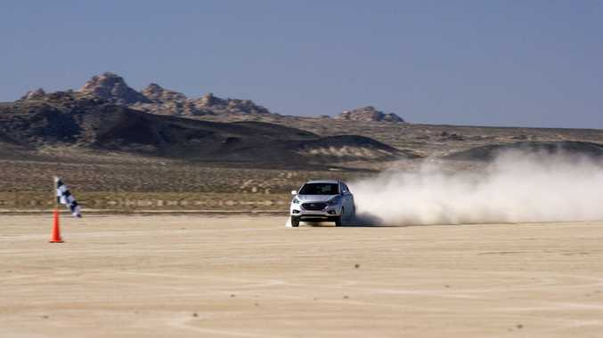 Hyundai ix35 Fuel Cell land speed record. Photo: Contributed