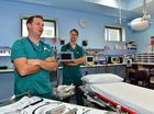 Dr Michael Natale, Director of Emergency medicine and Dr Barrie Field at Nambour Hospital emergency department. Photo: John McCutcheon / Sunshine Coast Daily
