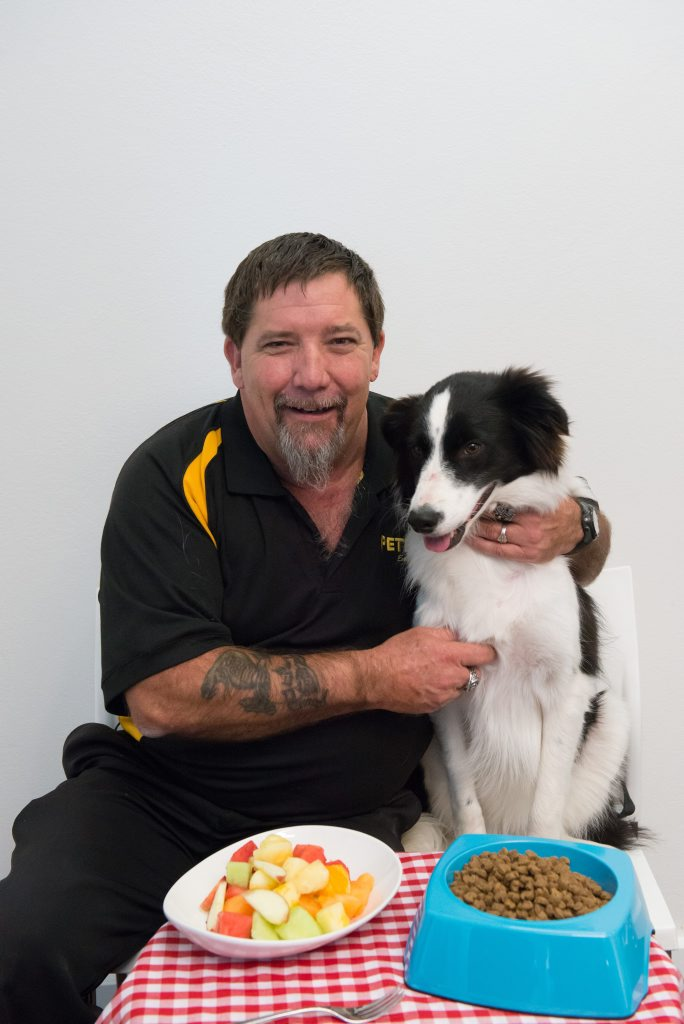 Petbarn Gladstone Store Manager Lyle Barry says residents shouldn't feed their pets Christmas feast leftovers this festive season. Photo Contributed