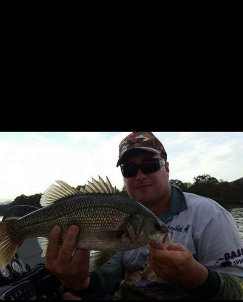 Sean Haynes landed this lovely Bass at Moogerah. Photo Contributed