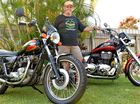 Gerry Dempsey with his Triumph Bonneville and Thunderbird