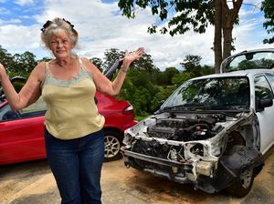 WATCH: Thieves strip car, steal parts from Woombye saleyard
