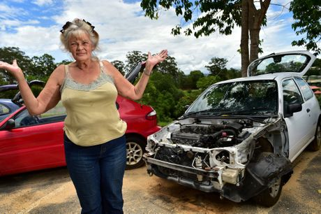 Owner of Pam's 4x4 Centre in Woombye, Pamela Brooks, was dismayed to find thieves had helped themselves to a car she'd only just advertised for sale.