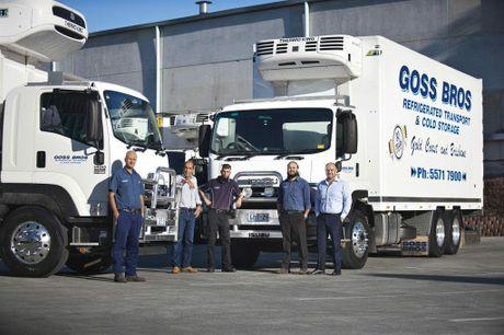 Fleet Manager, Kamal Goss, Managing Director Hussin Goss, Ghulam Goss, Transport Operations Manager Rahman Goss and Imran Goss. Photo Contributed