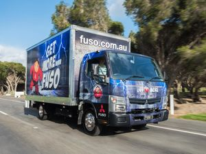 Fuso Canter load of vitamin C for kids