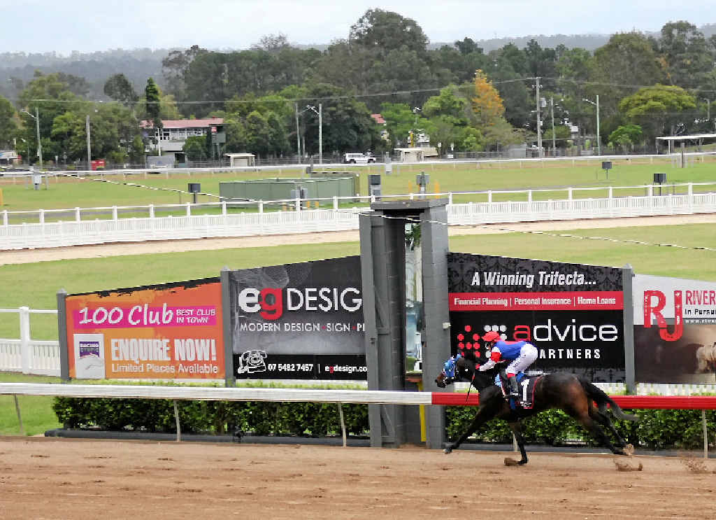 Renovation works are being carried out on the Gympie Racecourse track. The work involves grading and evening out the depth of sand on the track.