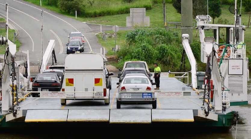 MUSEUM PIECE: Cr Paul Tully says the Moggill Ferry crossing over the Brisbane River should be replaced with a bridge as part of a western ring road around Brisbane.