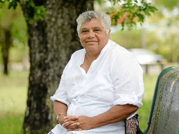 SHARING CULTURES: Darumbal elder Nhaya Nicky Hatfield has been sharing her culture with Rockhampton students and is pleased that Aboriginal and Torres Strait Islander languages will now be taught in schools across Australia.