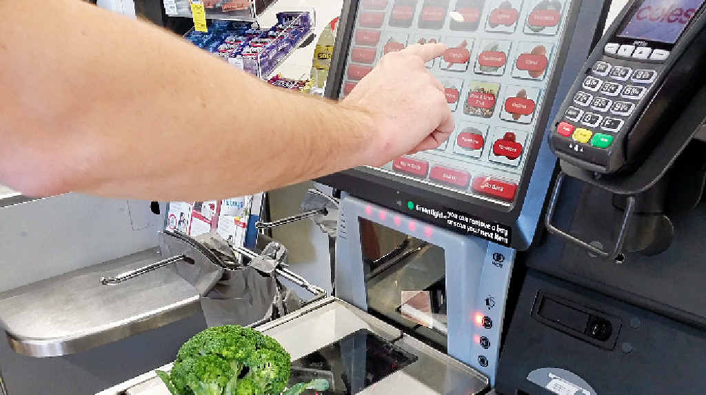 SELF-SERVE: Many customers prefer not to use the check-out machines in supermarkets.