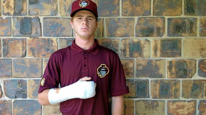 A fractured hand will keep Kodey Wilford out of the Under-18 National Baseball Tournament next month.
