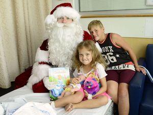 Santa Visits Ipswich Hospital
