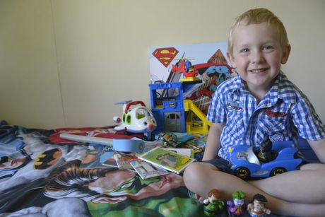 Ethan Hough is giving away a massive pile of toys, including about 60 Thomas the Tank Engine books to other boys who have nothing this Christmas.