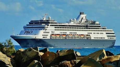 P&O Pacific Eden coming in to Mooloolaba in December.