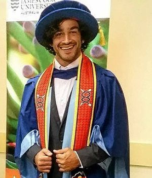 James Cook University awards Thurston a Doctor of Letters in a special ceremony
