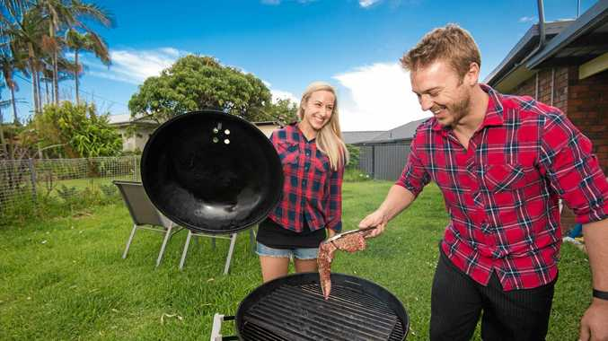 ON FIRE: Ricki Brideoake and Becky Vaschak are through to the grand final of Aussie Barbecue Heroes.