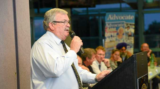ON HOLD: President of the Local Government Association Keith Rhoades, of Coffs Harbour City Council, said he is pleased with the outcome of today's meeting about local council mergers.
