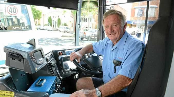 JOHN Paisley of Tucki Tucki on his last day as a bus driver after more than thirty years.