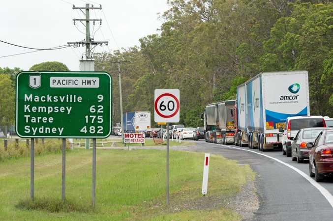 Christmas traffic hold up at Macksville.